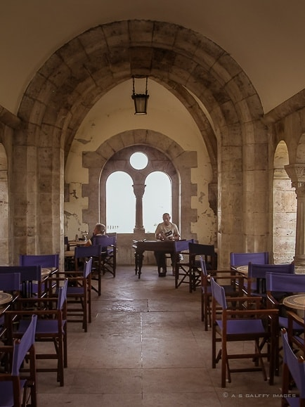 Fisherman's Bastion Café in Budapest Old Town