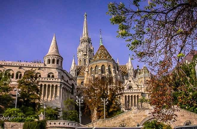 View of the Fisherman's Bastion and Matthias Church