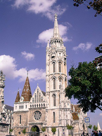 Matthyas Church in Old Town Budapest