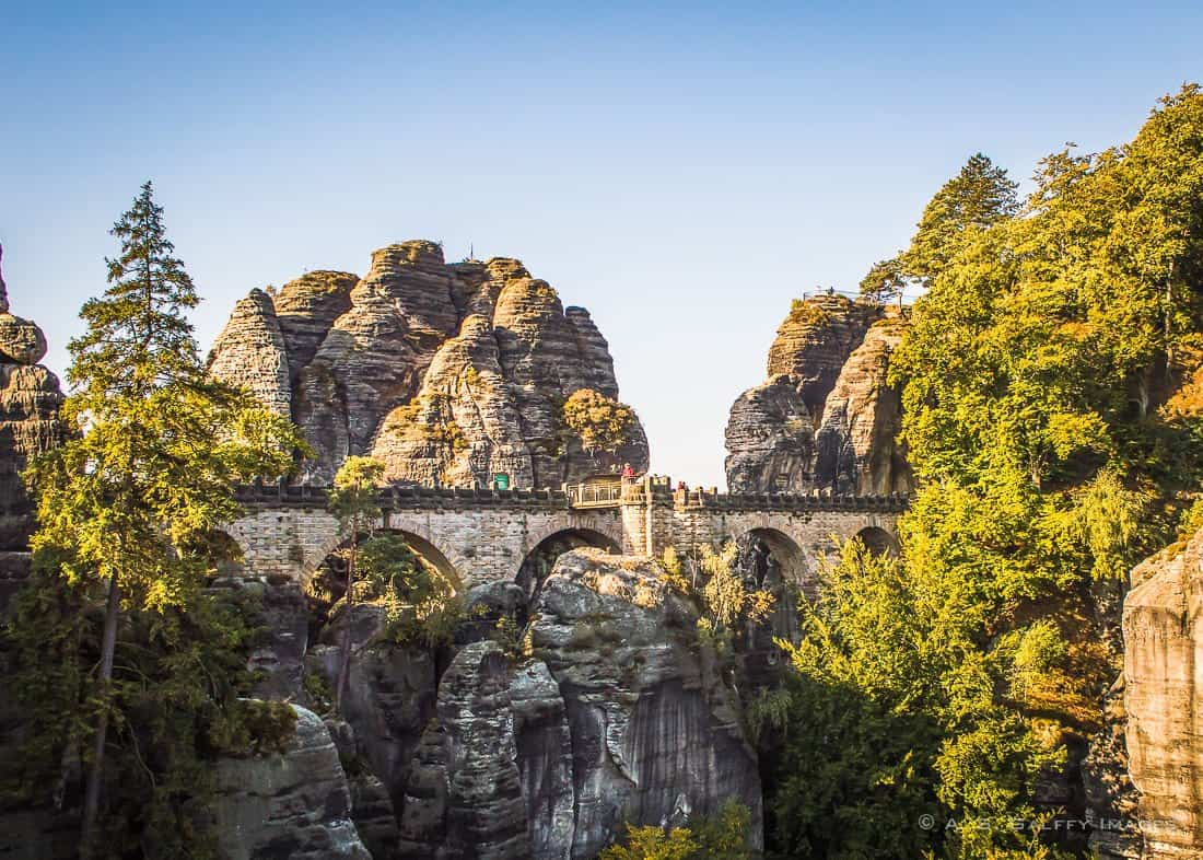 View of the Bastei Bridge