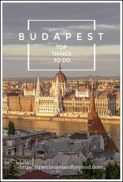 3 days in Budapest pin