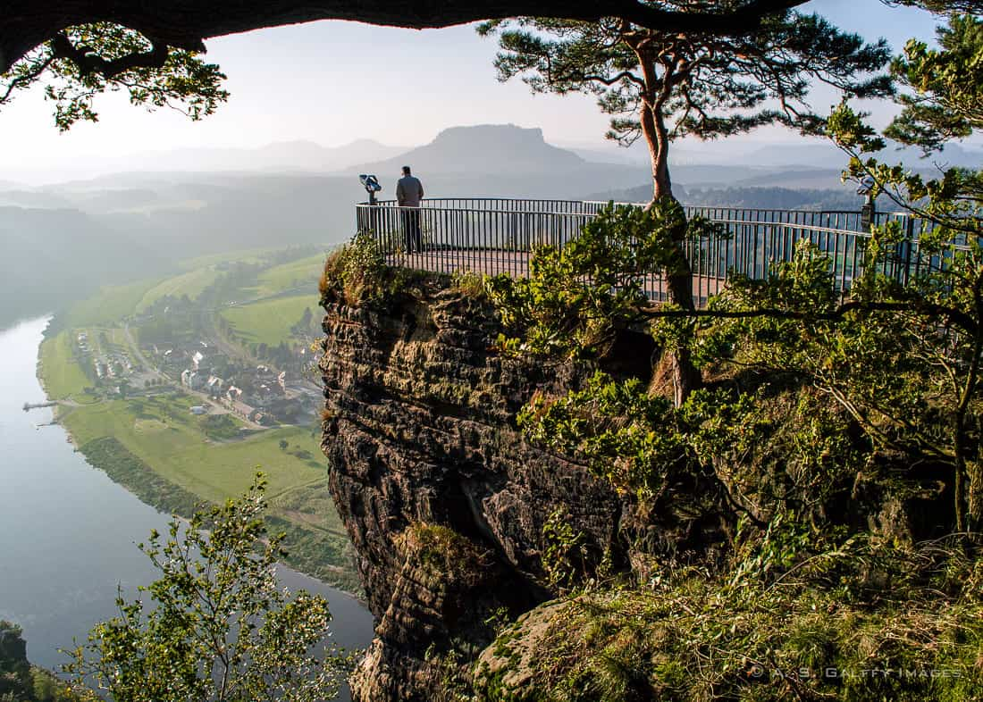 View of the Elbe River from the Bastei Rocks