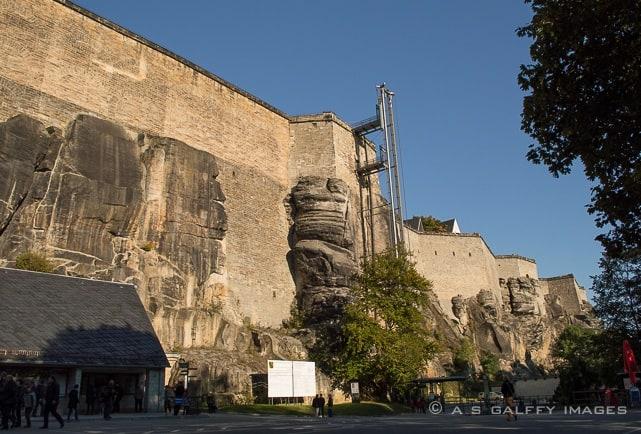 Königstein Fortress walls