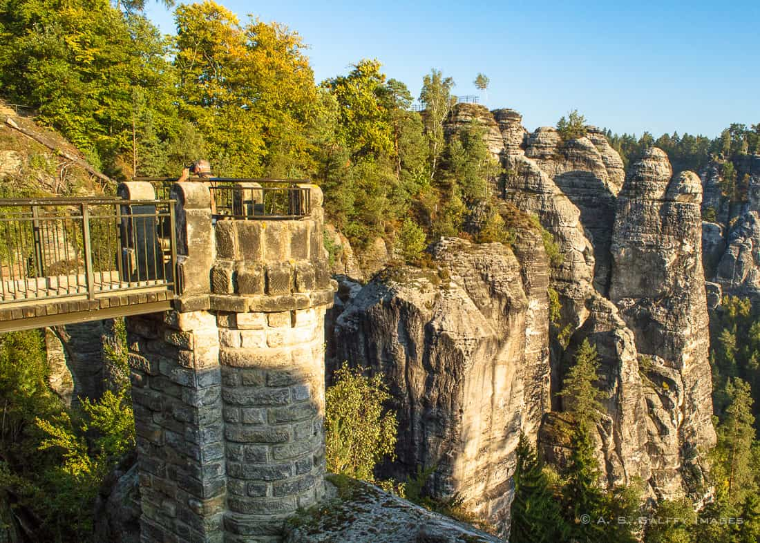 View of Bastei Bridge
