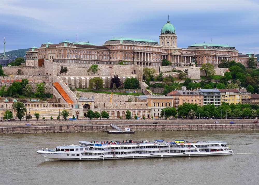 View of the Royal Palace in Budapest