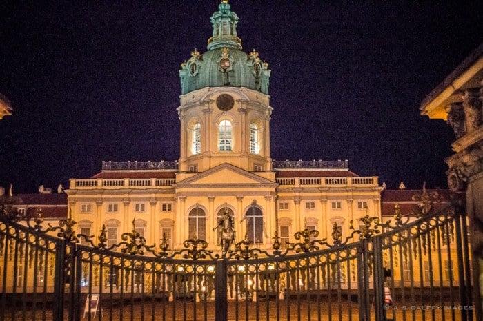 Schloss Charlottenburg at night