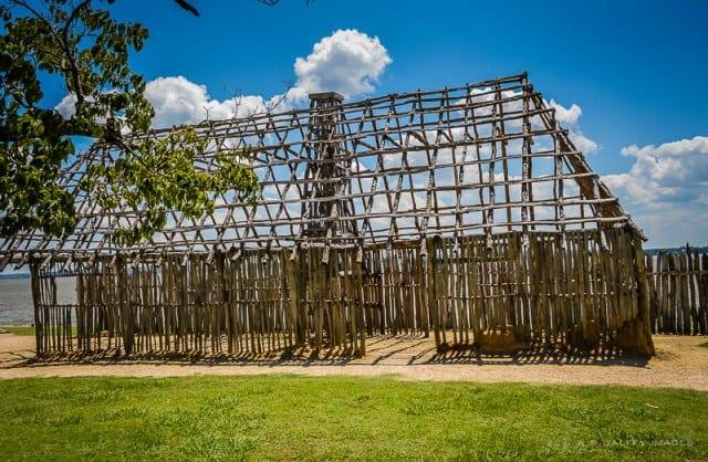 The original site of Jamestown settlement