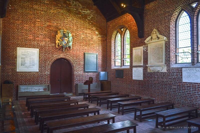 Pocahontal wedding chapel in Jamestown settlement