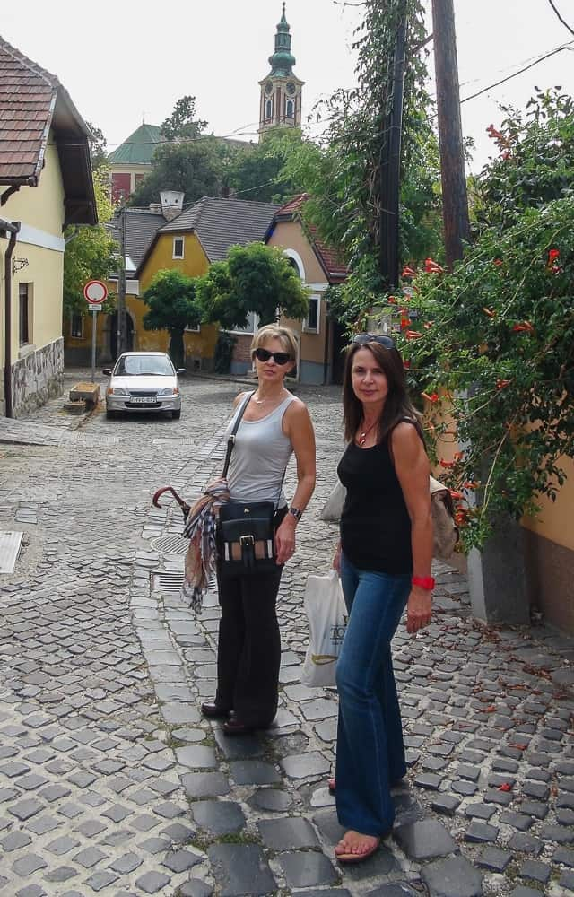 Strolling the streets on a day trip to Szentendre