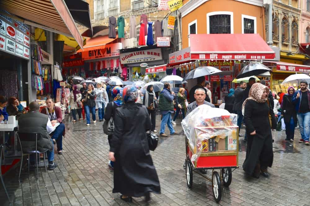 Street in Sultanahmet neighborhood in Istanbul