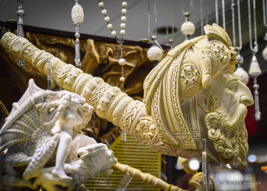 Ivory works at Grand Bazaar istanbul