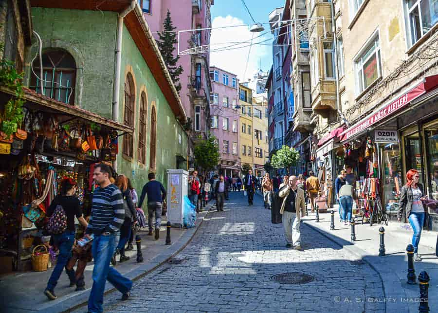 Istiklal Caddesi street in Istanbul