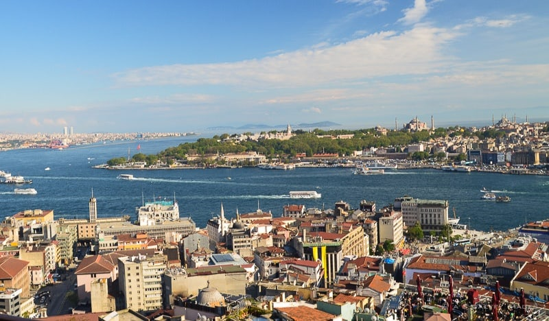 View of the Golden Horn from Galata Tower