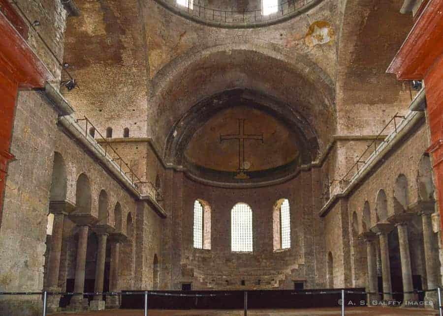 Inside Hagia Irene church - Istanbul itinerary