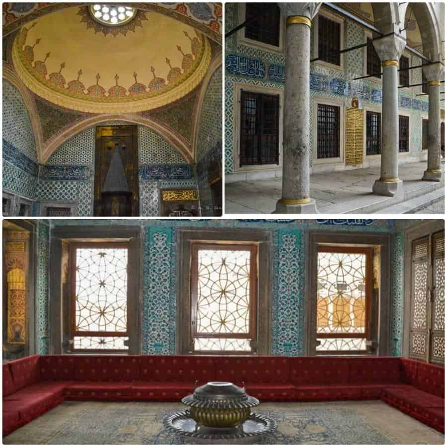 View of the harem rooms at Topkapi Palace