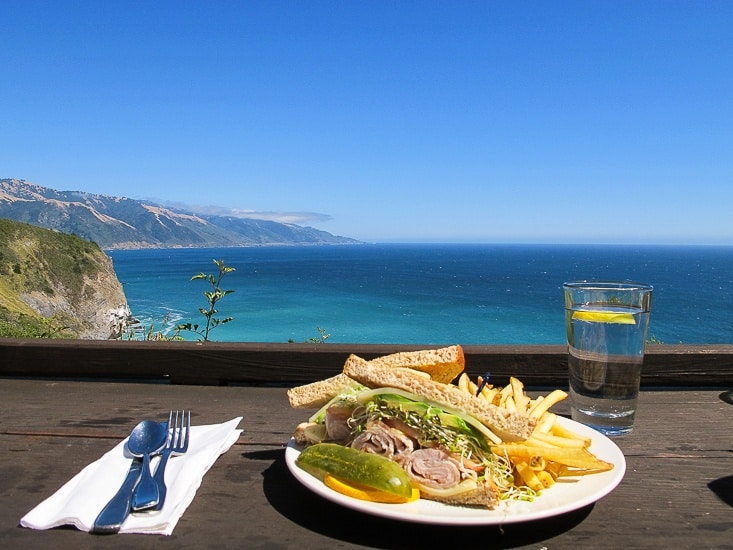 The Weekly Postcard:  Lunch at Big Sur
