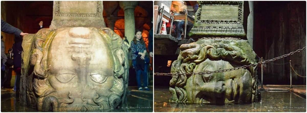 Medusa head in the Basilica Cistern