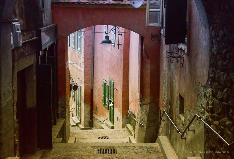 The Goldsmiths' Stairway in Sibiu