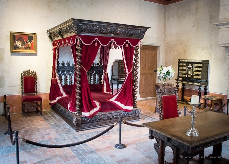 Leonardo da Vinci's bedroom at Chateau Clos Luce