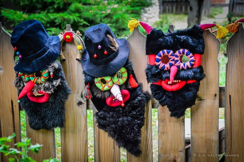 Traditional Romanian masks at Bucharest Village Museum