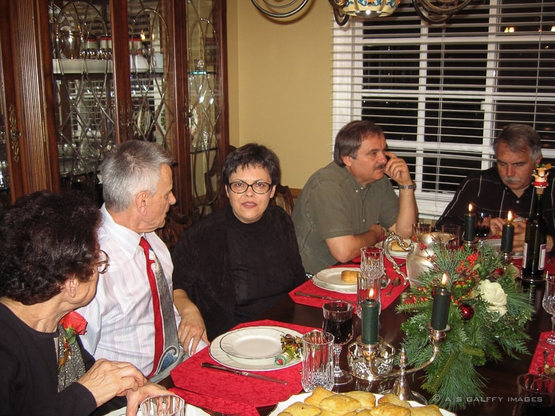 family around the Christmas table