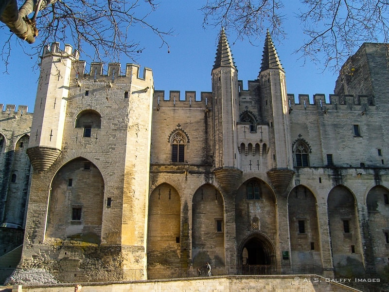 View of the Palace of the Popes in Avignon