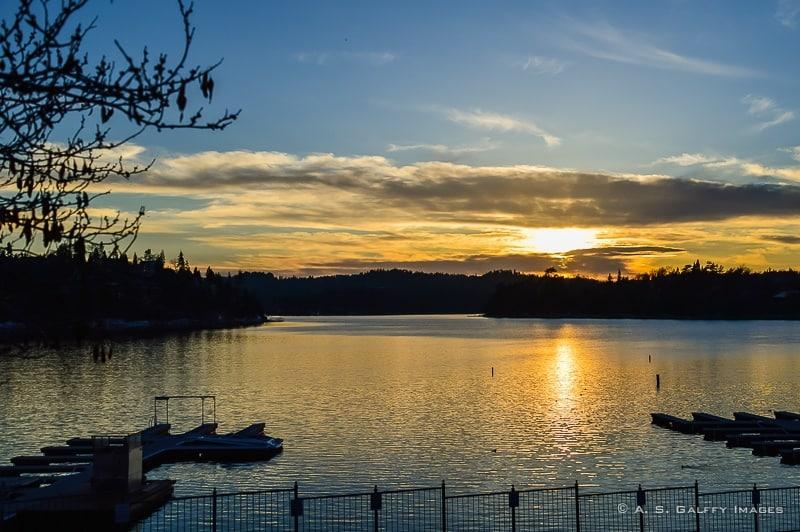 Sunset in Lake Arrowhead
