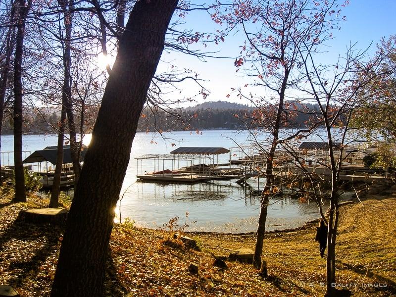 Walking in Lake Arrowhead