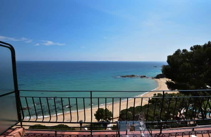 Sea view from our balcony in Hotel Santa Marta in Lloret del Mar