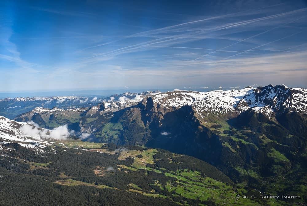 view from the Cogwheel train to Jungfraujoch