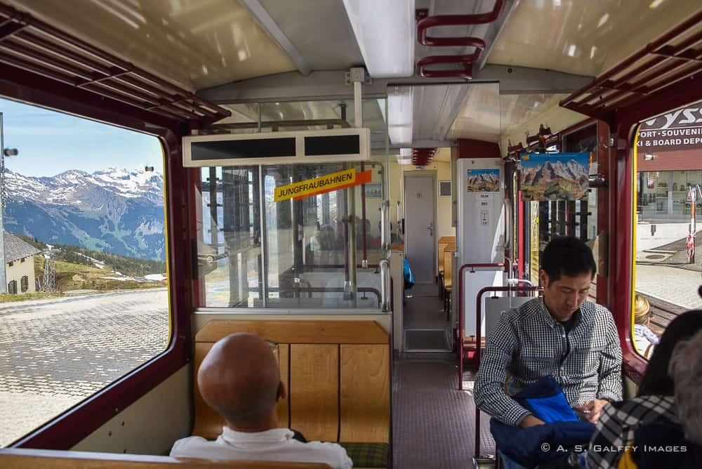 the train to Jungfraujoch