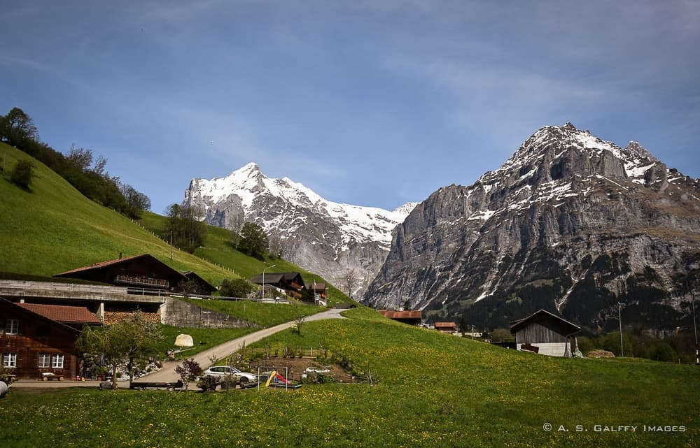 view from the Cogwheel train to Jungfraujoch