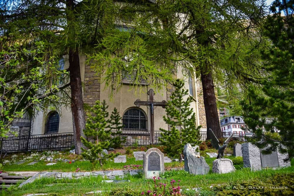visiting the Mountaineers' Cemetery in Zermatt