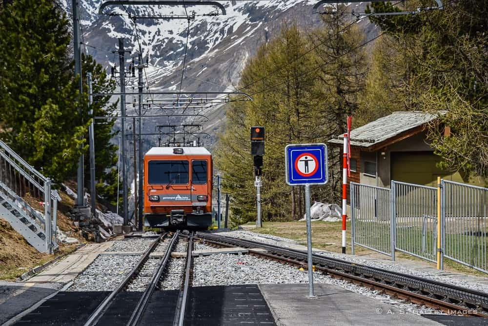 things to do in Zermatt: riding the Gornergrat train
