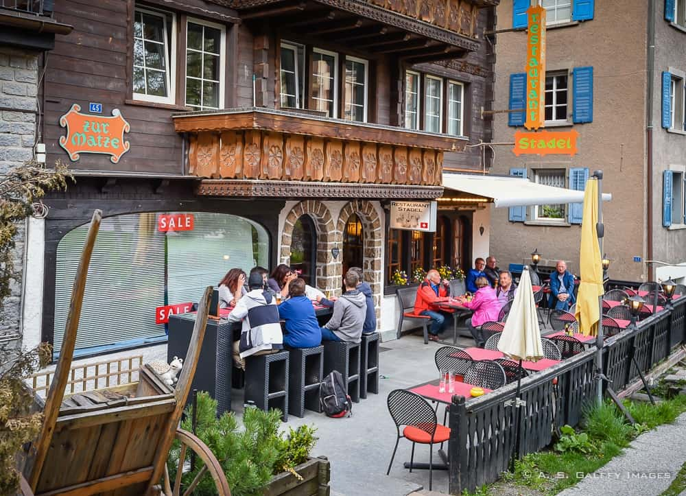 dining in Zermatt