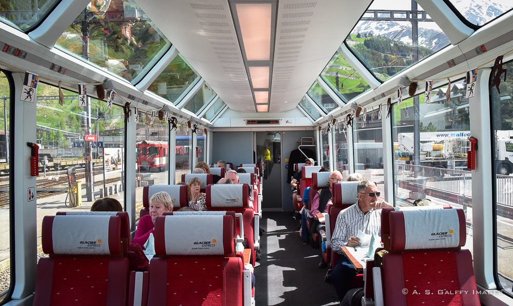 Glacier Express first class carriage