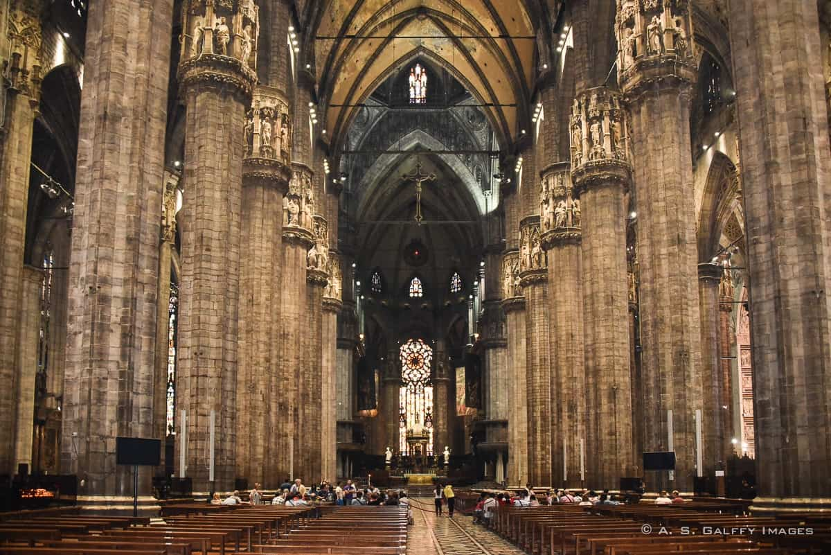 Inside the Duomo of Milan