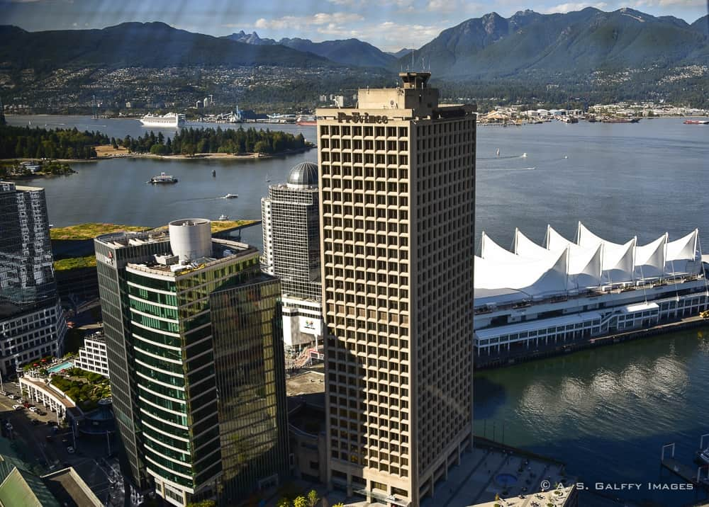 the cityscape creates great Vancouver first impressions