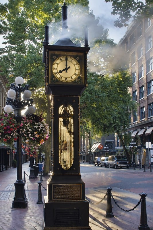the steam clock in Gastown Vancouver
