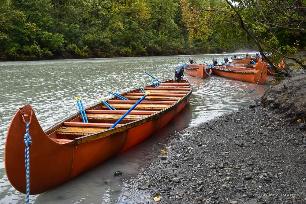 canoes on the shore
