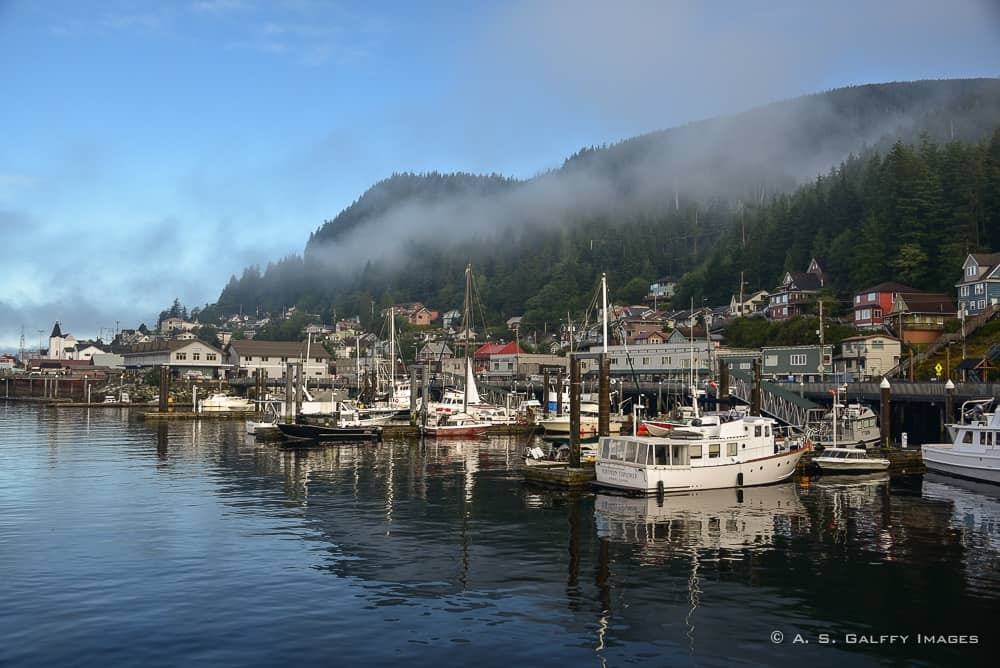 The port of Ketchikan