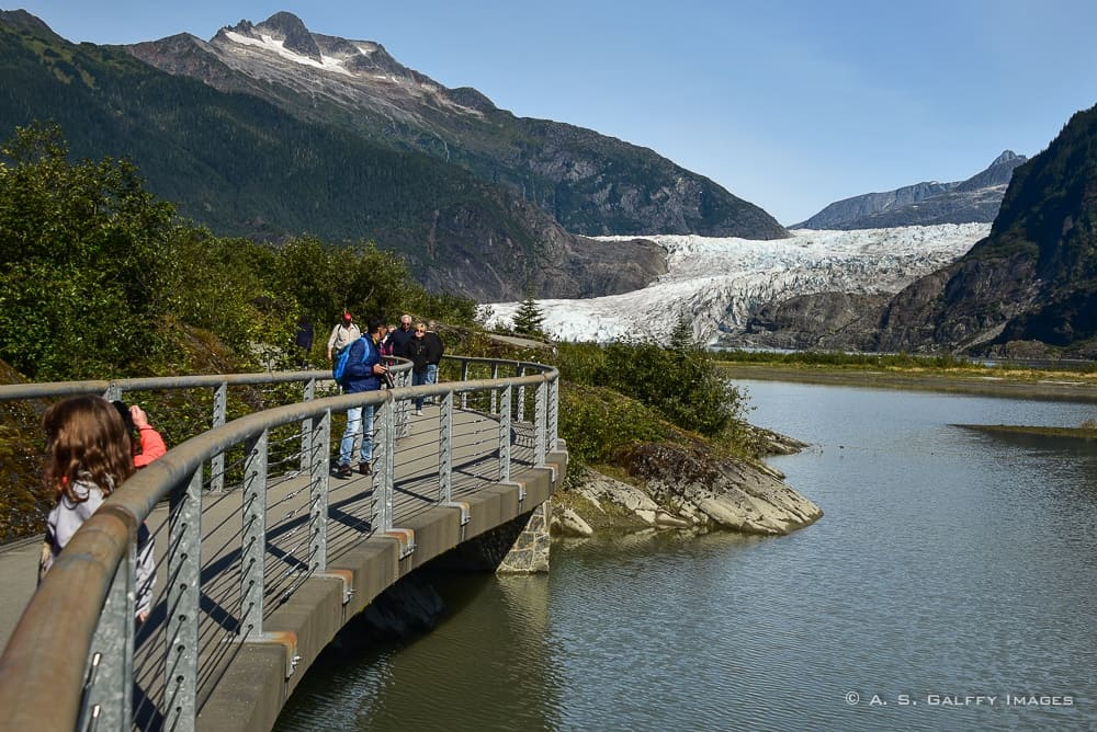 trail to the Mendenhall Glacier in Juneau
