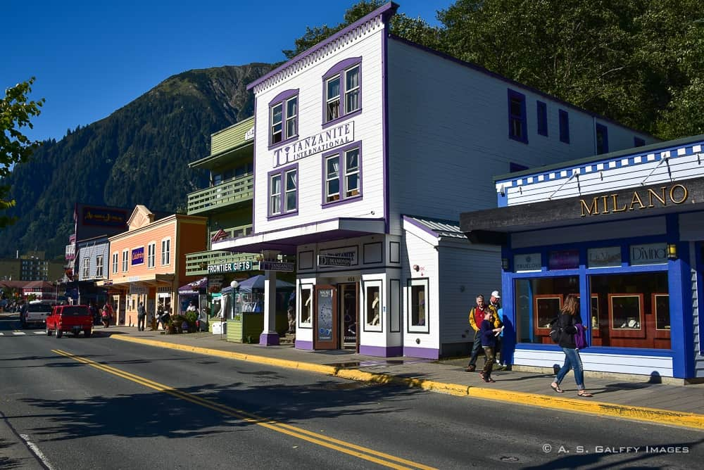 walking the streets of historic Juneau