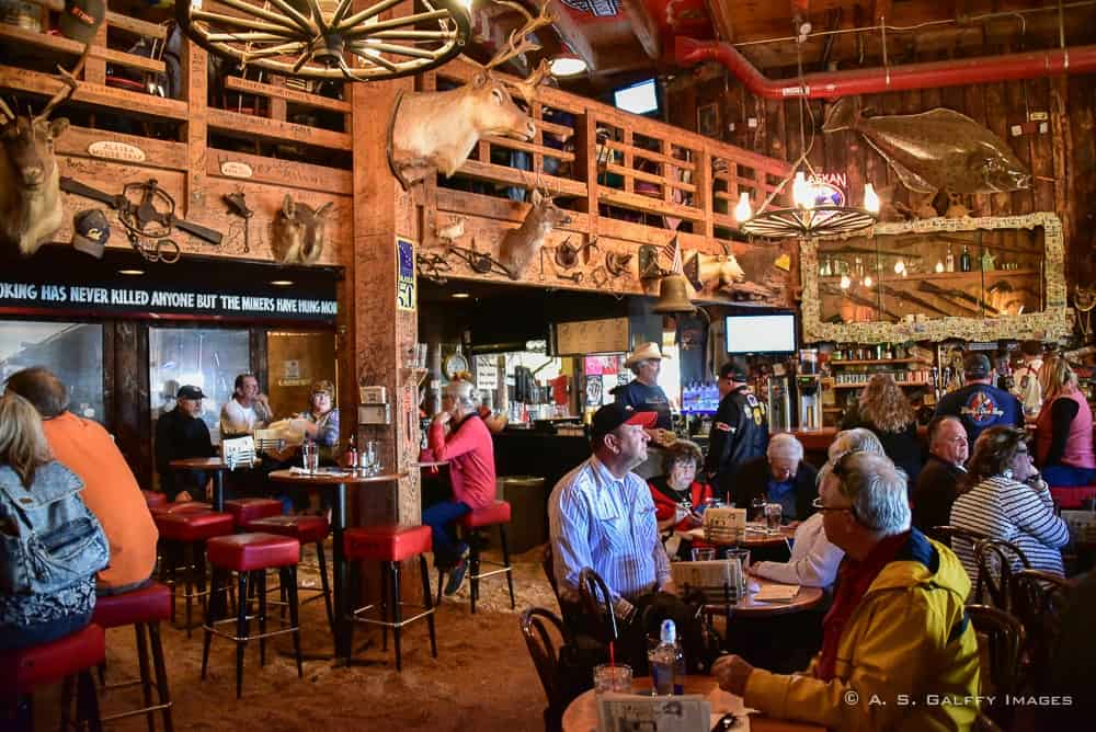 inside The Red Dog Saloon in Juneau