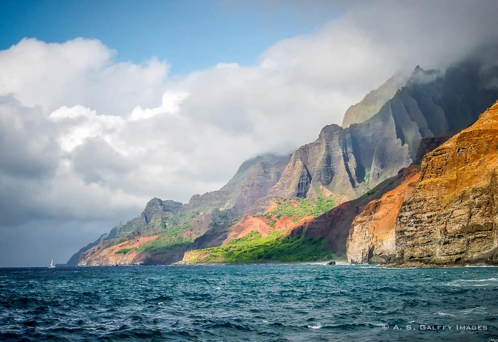 Na Pali Coast on the Island of Kauai