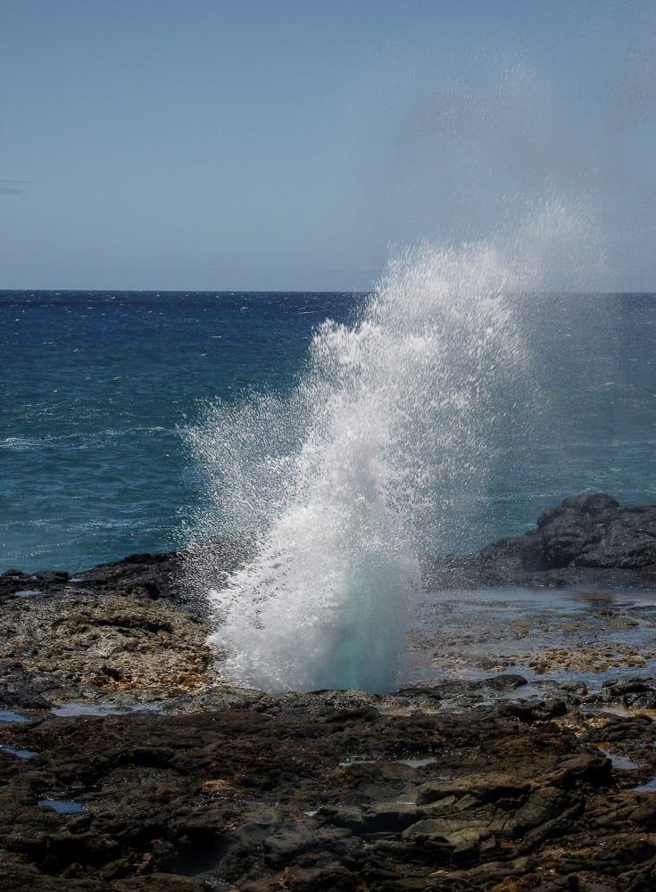 the Spouting Horn in Kauai