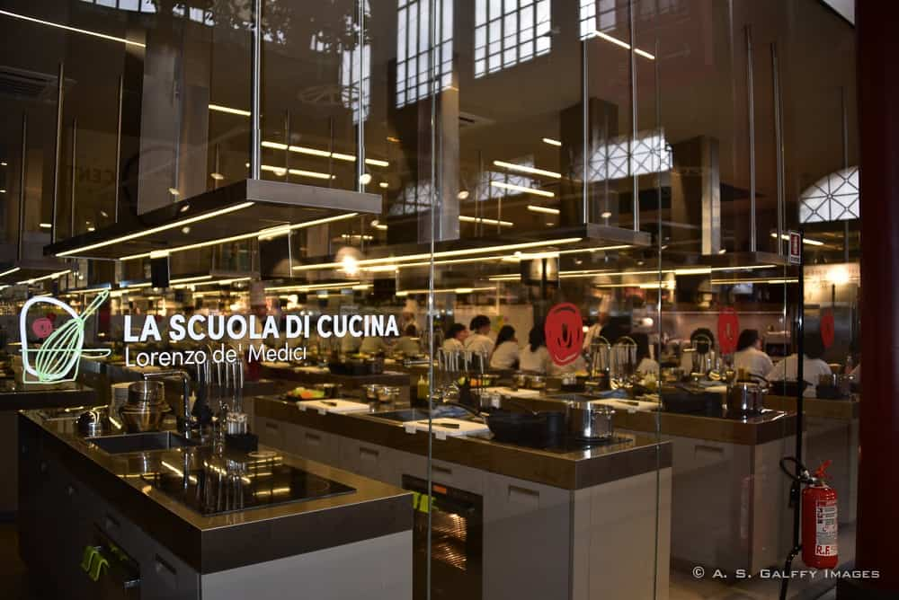 The cooking school at Mercato Centrale in Florence
