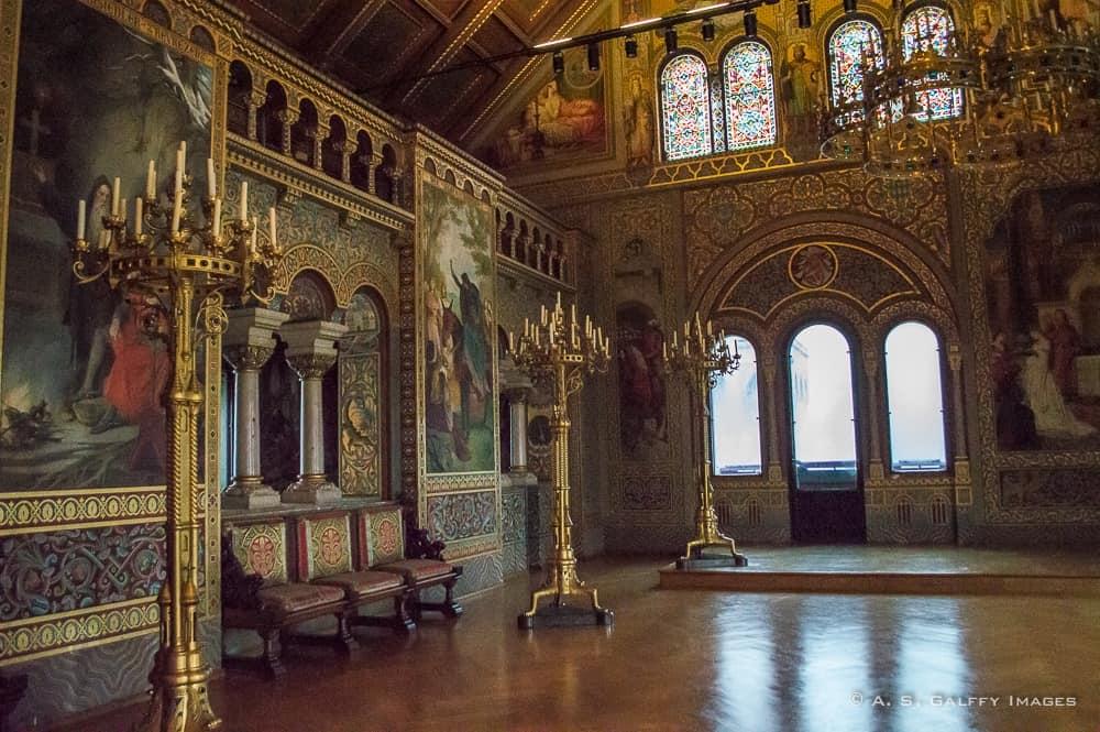 Inside the Neuschwanstein Castle