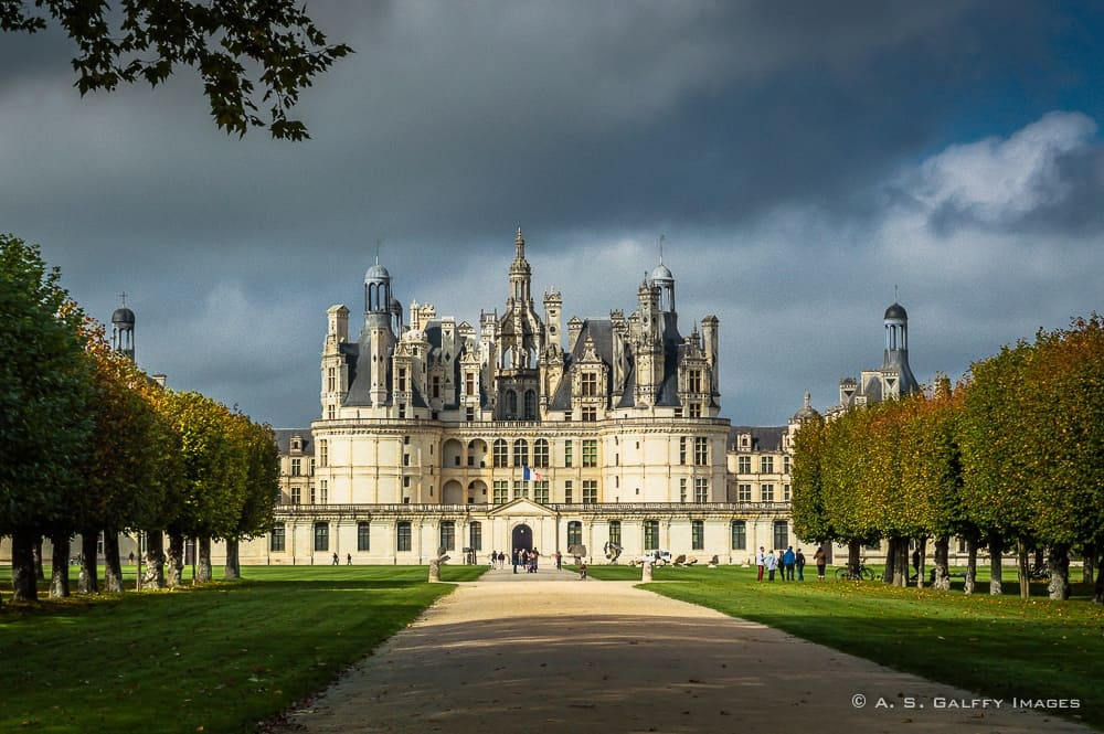 main entrance of the Château de Chambord