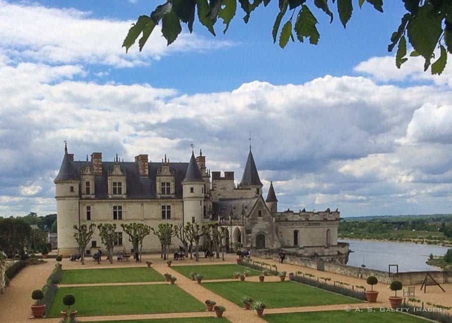 The grounds of Chateau d'Amboise